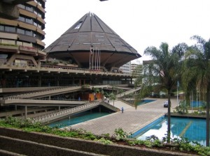 KiCC ampitheatre abstracted african house plans