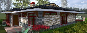 kenyan architecture, 3 bedroom cottage