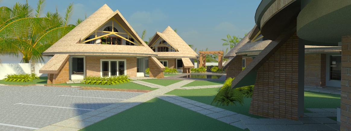 holiday cottages in Diani by Kenyan architect