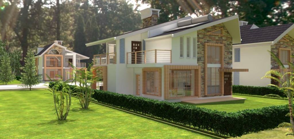 4 bedroom maisonette design by Kenyan architect