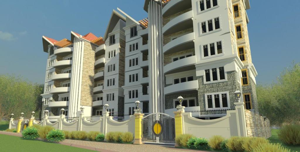 Apartment buildings in kikuyu david chola architect for Apartment design kenya