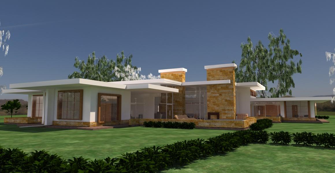 Contemporary Ranch Rambler House Plan David Chola