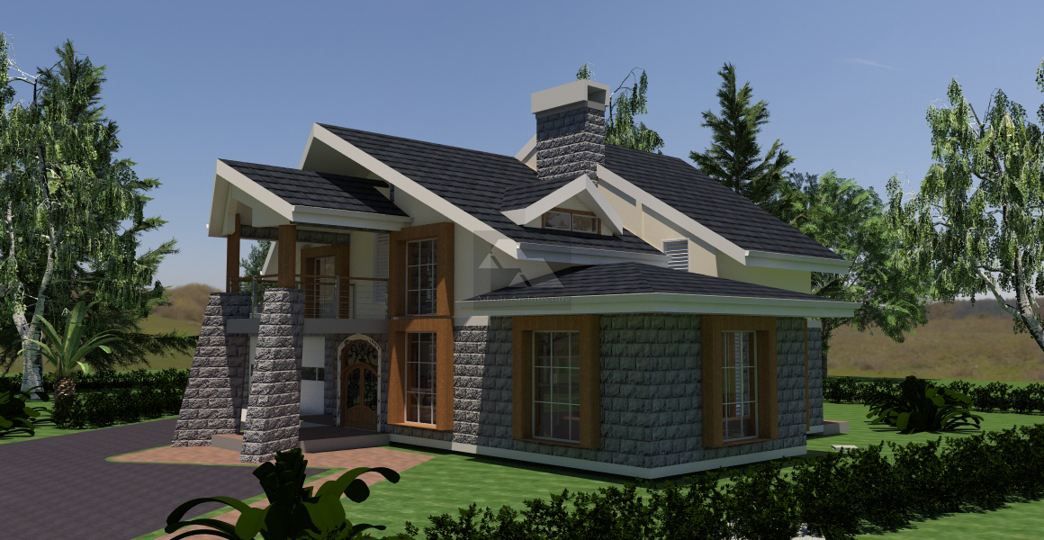Four bed room plan house in kenya joy studio design for Kenya house plans