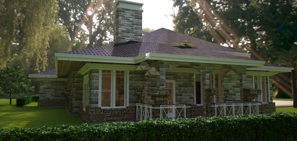David Chola Architect Arched 4 Bedroom Bungalow