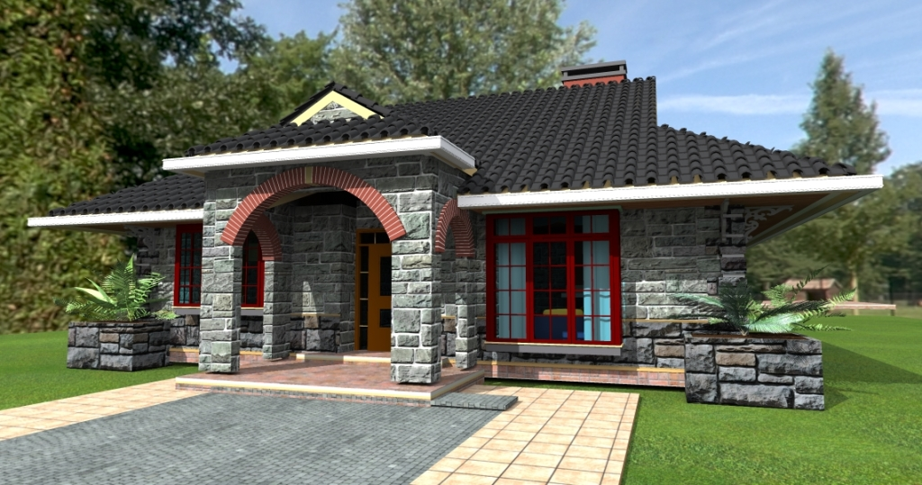 Deluxe 3-Bedroom Bungalow Plan | David Chola - Architect