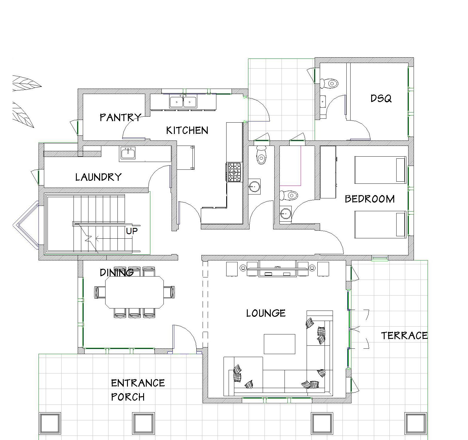 4-Bedroom Redhill House Plans | David Chola - Architect