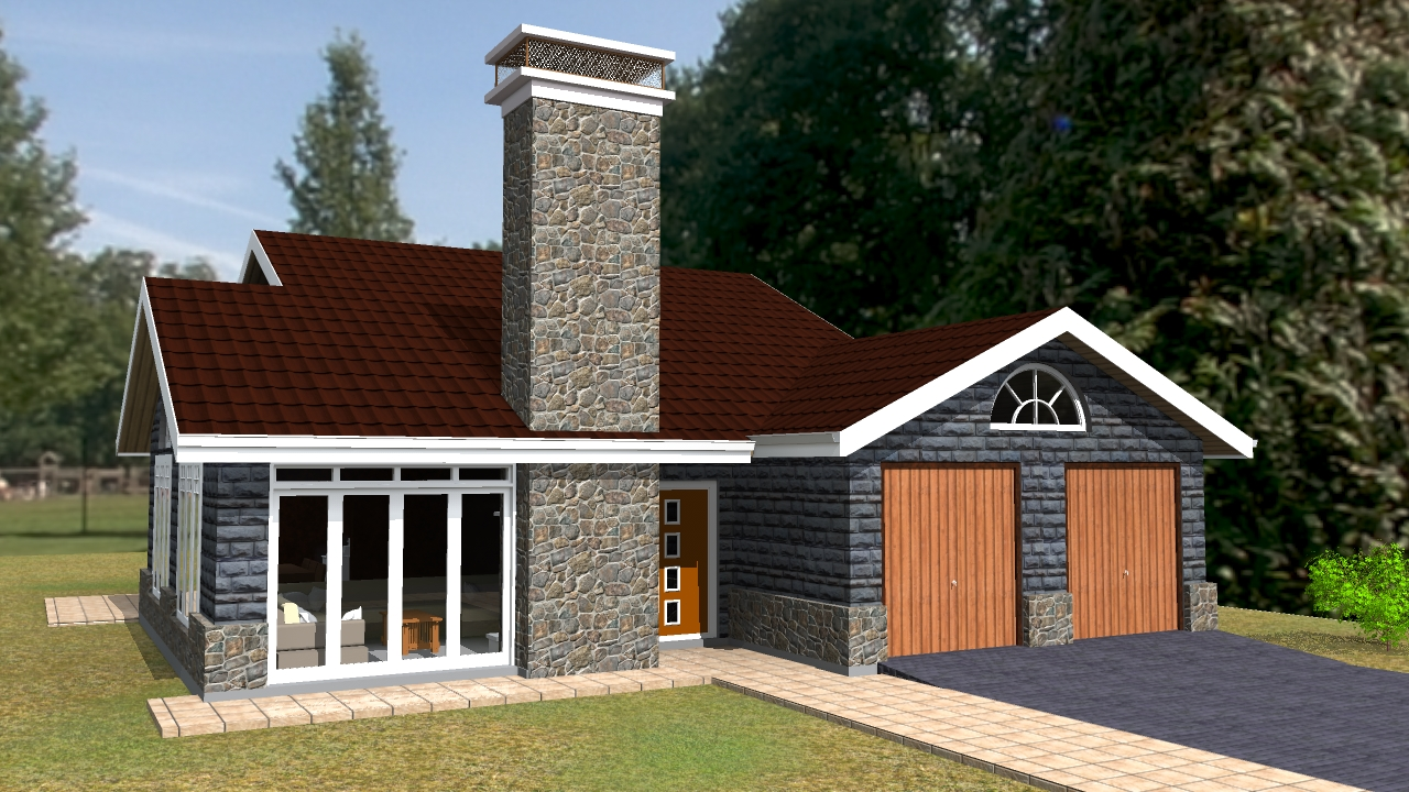 3 bedroom house plan by kenyan architect · 3 bedroom bungalow