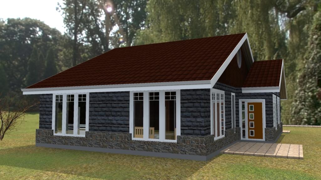 3 bedroom bungalow plan Kenyan architect