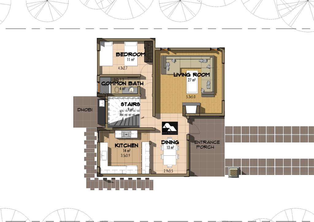 4 bedroom juja edge house plan david chola architect for Kenya house plans