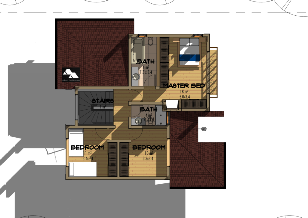 4 bedroom juja edge house plan david chola architect 4 bedroom maisonette