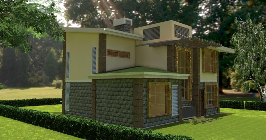 David Chola Architect House Plans In Kenya 4 Bedroom Juja Edge House Plan