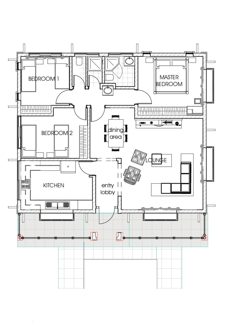 House plans in kenya 3 bedroom bungalow house plan Three bedroom house plan designs