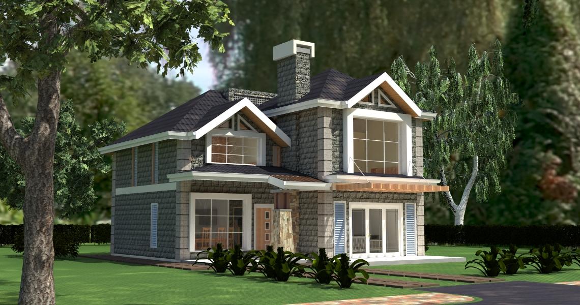 Elegant 4 Bedroom House Plan
