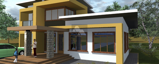 Contemporary 4 Bedroom House Plan