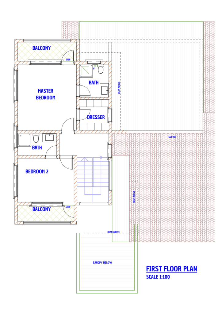Contemporary 4 bedroom house plans