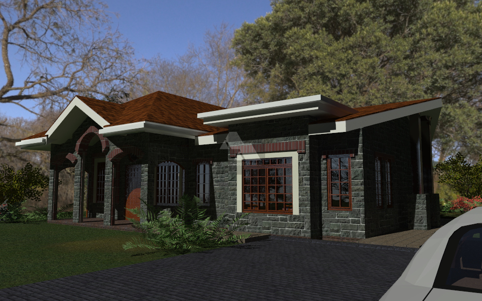 3 Bedroom Bungalow House Plan