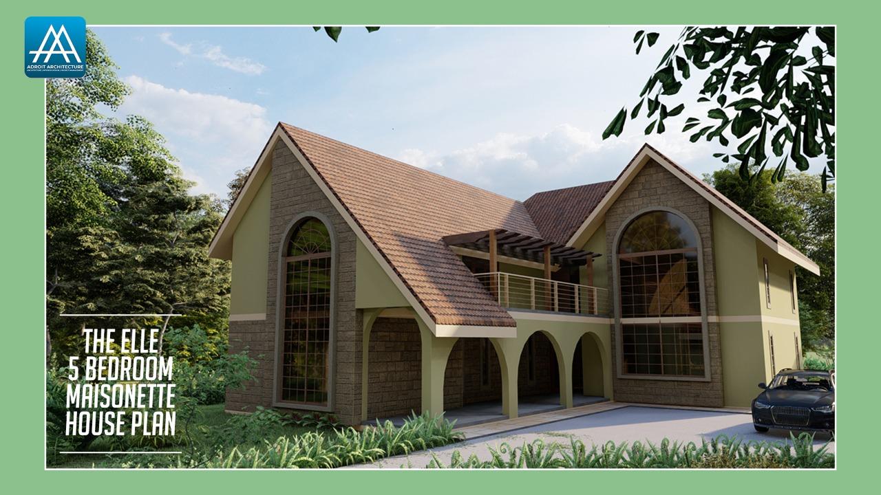5 Bedroom Maisonette House Plan