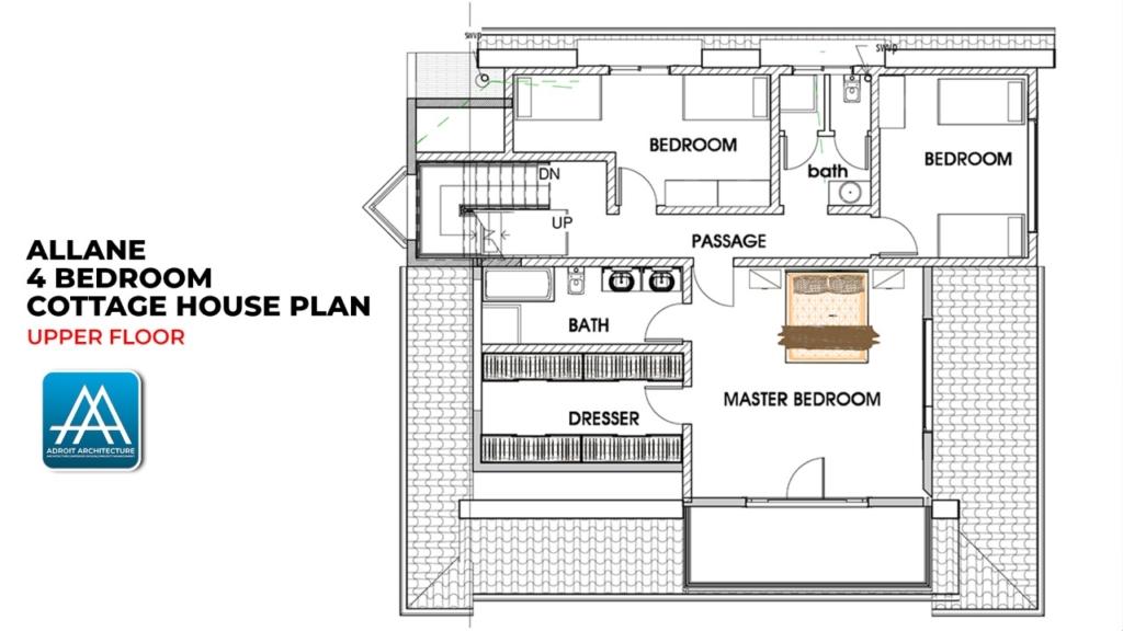 4 Bedroom Cottage House Plan