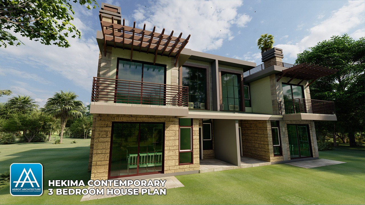 Contemporary 3 Bedroom House Plan