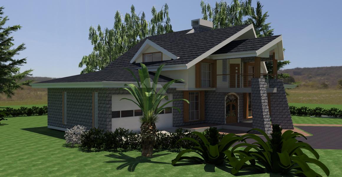 4 bedroom house plan in Kenya