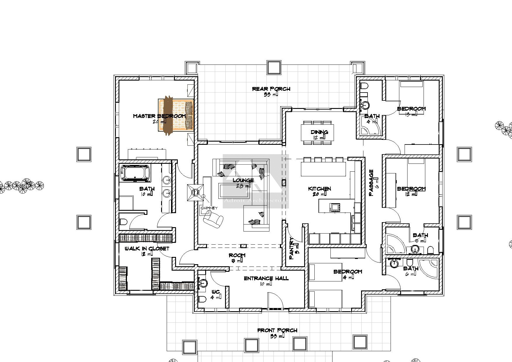 4 bedroom floor plans david chola architect arched 4 bedroom bungalow 2524