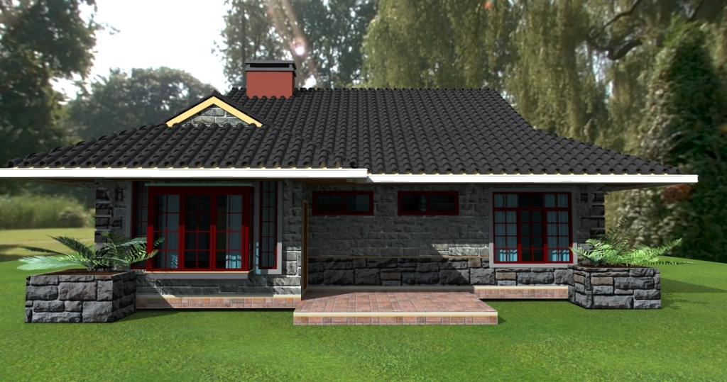 David Chola - Architect - Deluxe 3-Bedroom Bungalow House Plan