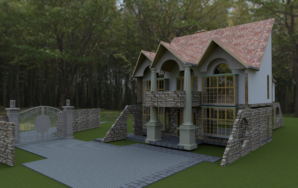The built 4 bedroom a house plan david chola architect for Latest house designs in kenya