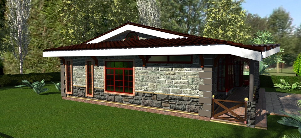 House plans david chola architect Two bedroom house plans in kenya