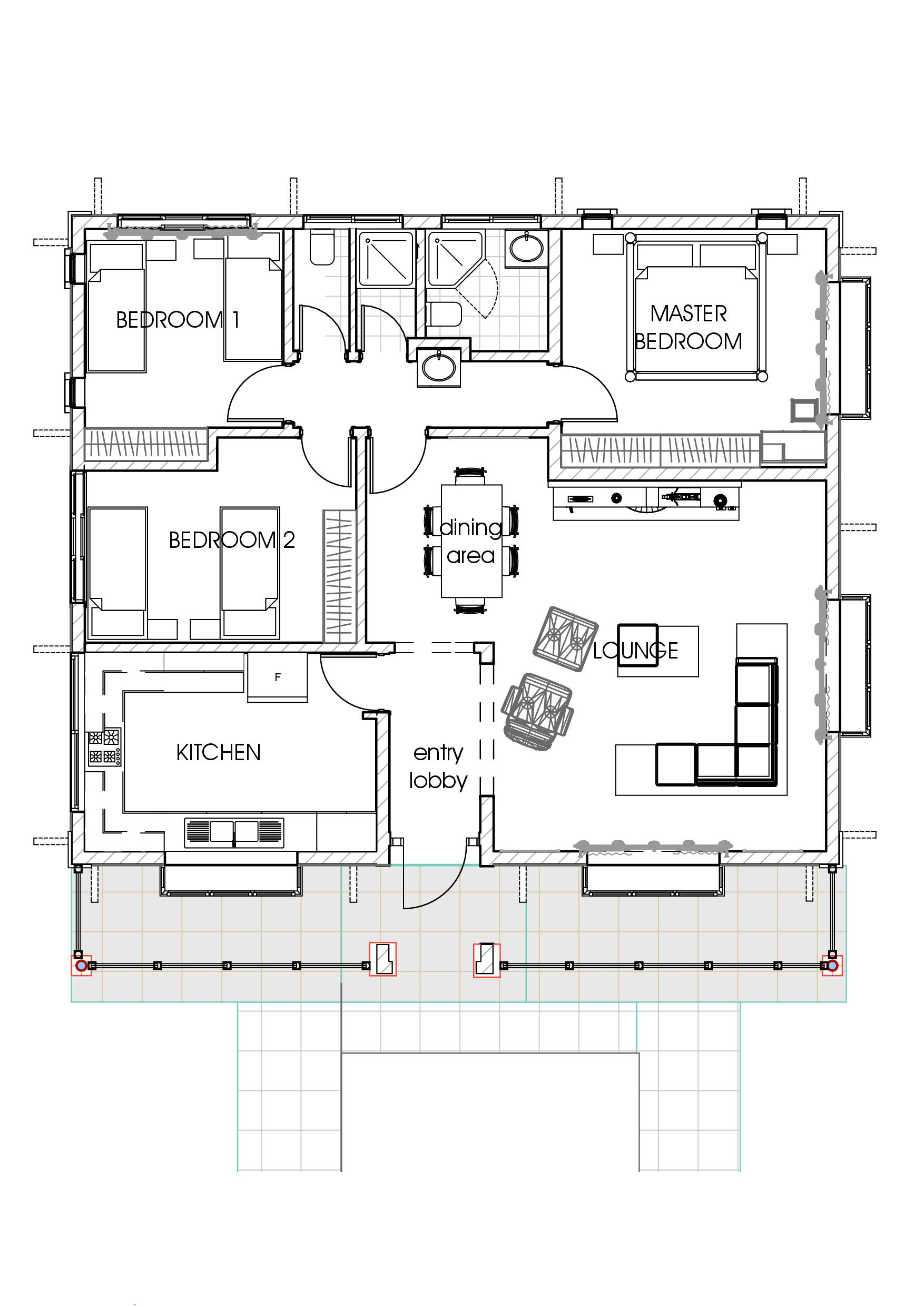 Bungalow Dining Room House Plans In Kenya 3 Bedroom Bungalow House Plan